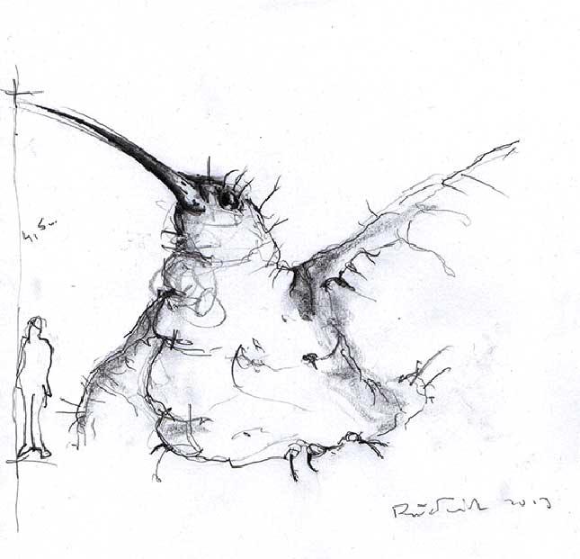 Pawel-Wocial-The-Hummingbird-Koliber-rzezba-z-parafiny-szkic-min